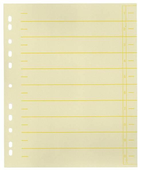 Trennblätter, farbiger Organisationsdruck A4 Überbreite, gelb, 100 Stück