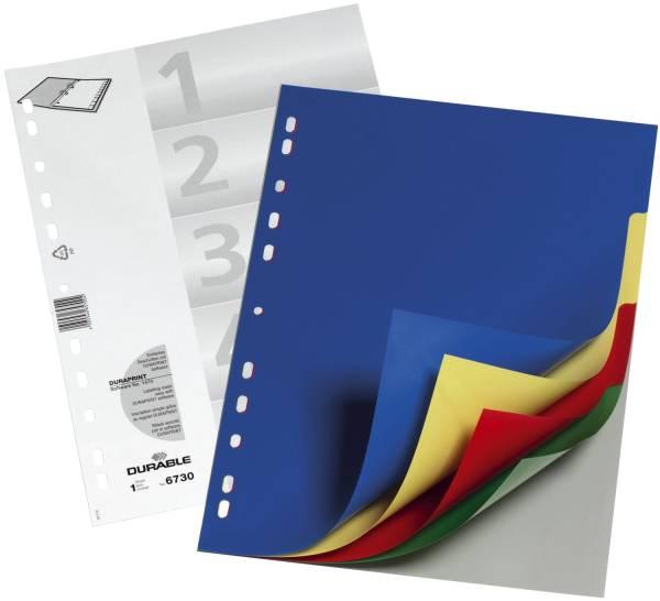 Register PP, blanko, farbig, A4, 5 Blatt