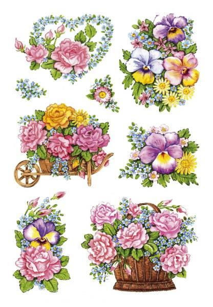 HERMA Schmucketikett Blumentöpfe 18 Stück 3354 Decorsticker
