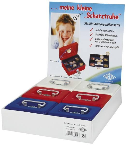 Geldkassette Gr 0 farbig sortiert 12,5x9,5x6,3cm