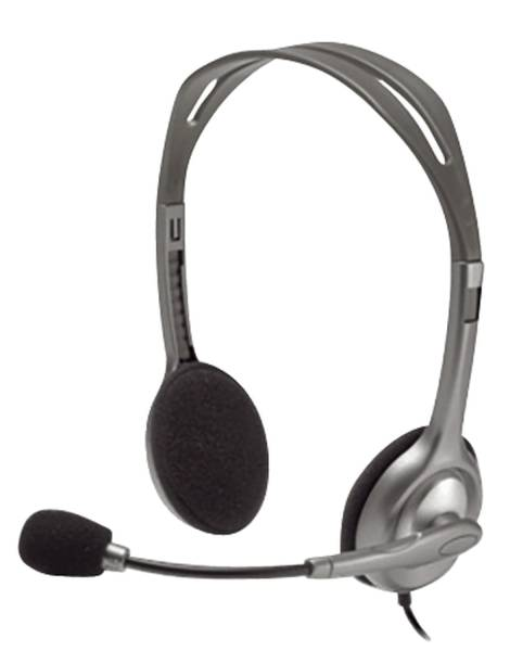 LOGITECH Kopfhörer H110 Stereo schwarz 981-000271 3,5mm
