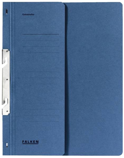 Einhakhefter A4 1 2 Vorderdeckel kfm Helfung, blau, Manilakarton, 250 g qm