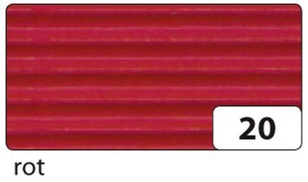Bastelwellpappe 50 x 70 cm, rot