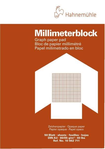 Millimeter Block 50 Blatt, A3, 80 g qm
