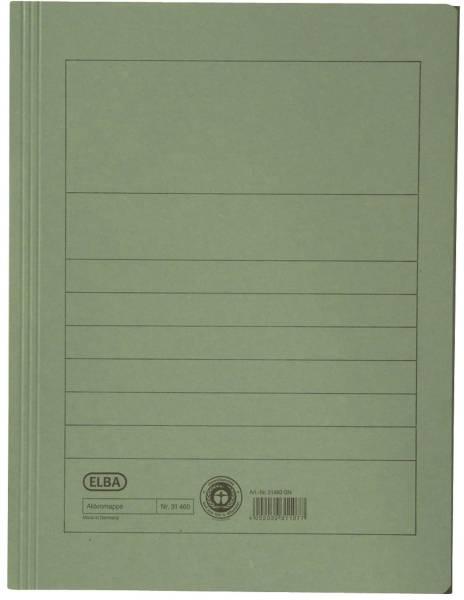 Aktenmappe, Manilakarton (RC), 250 g qm, A4, 15 mm, grün