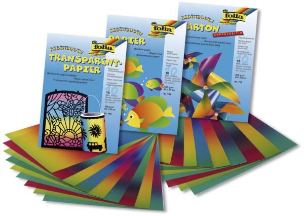 FOLIA Regenbogenpapier Mappe 10BL 765 ungummiert 22x32cm
