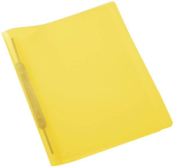 Spiralschnellhefter A4, transluzent, gelb