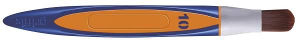 PELIKAN Haarpinsel Griffix Synthetik orange 700788 10er Katzenzunge