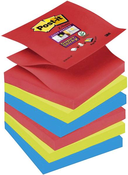 Haftnotiz Z Notes Bora Bora Collection 76x76mm, 6 x 90 Blatt