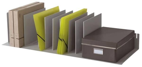 Belegfach flexibel für Rolladenschrank easyOffice grau