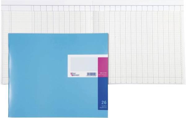Spaltenbuch Kopfleisten Ausführung 348 x 257 mm, 26 Spalten