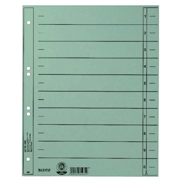 LEITZ Trennblatt A4 hellblau ungeöst 1658-00-30 100ST durchgefärbt