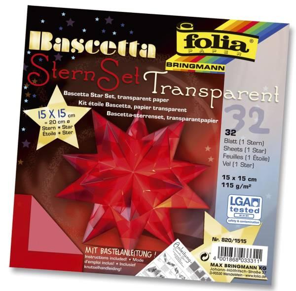 Bascetta Stern rot, transparent, Ø 20 cm