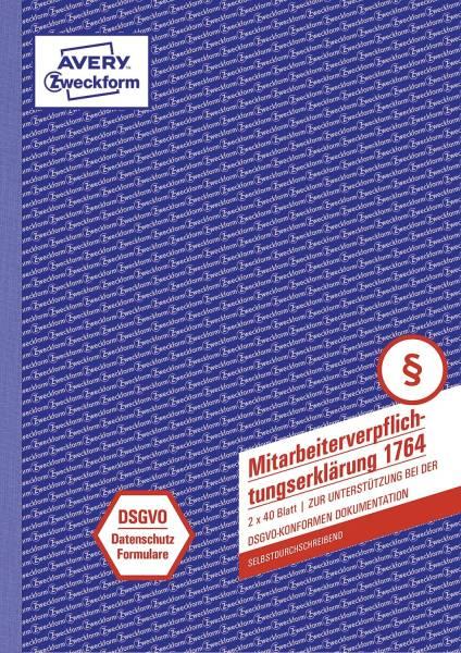 AVERY ZWECKFORM Mitarbeiterverpflichtung A4 SD 2x40BL 1764