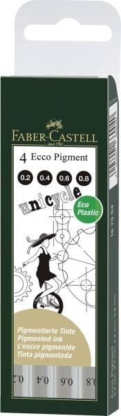 FABER CASTELL Pigmentliner Ecco 4ST schwarz 167004