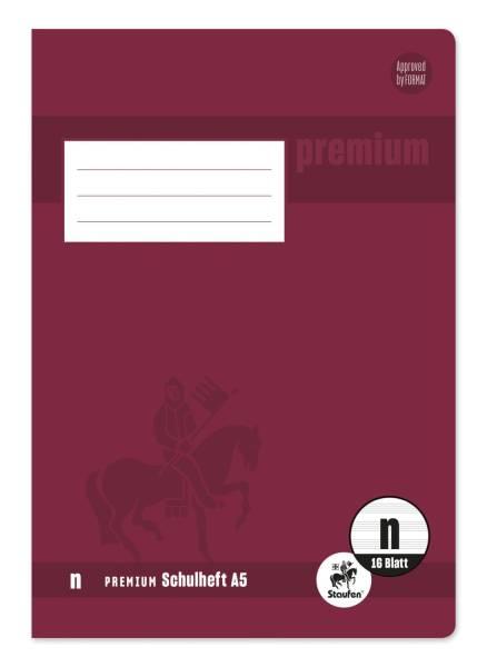STAUFEN PREMIUM Heft A5 16BL Lineatur-Nr. n 734010316