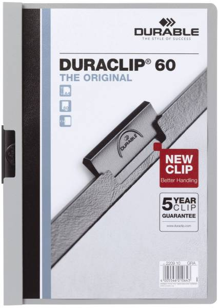 Klemm Mappe DURACLIP 60, DIN A4, grau®