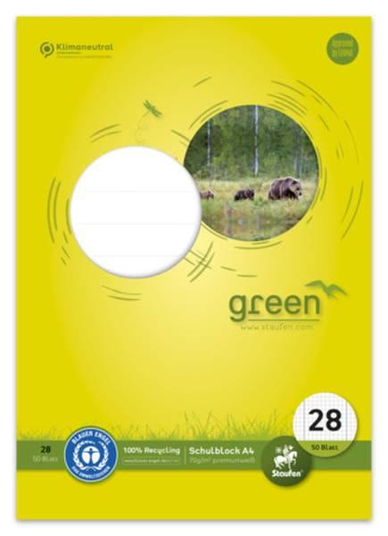 STAUFEN GREEN Schulblock A4 50BL Lin28 040750028 70g