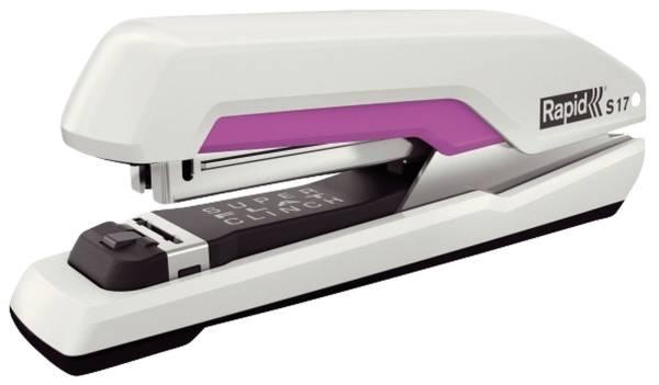 RAPID Heftgerät Supreme S17 FS weiß/pink 5000539 30 Blatt