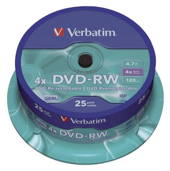 VERBATIM DVD-RW 25erSpindel 43639 4,7Gb120mi