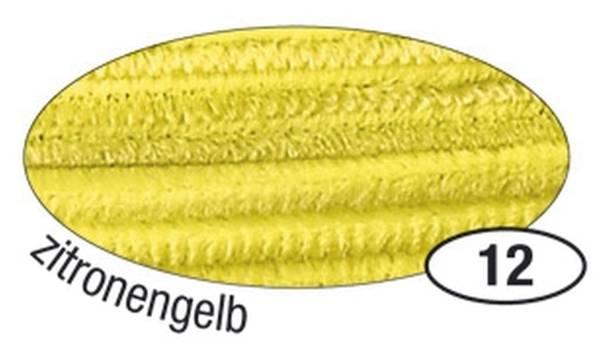 Chenilledraht 8 mm, 10 Stück, zitronengelb
