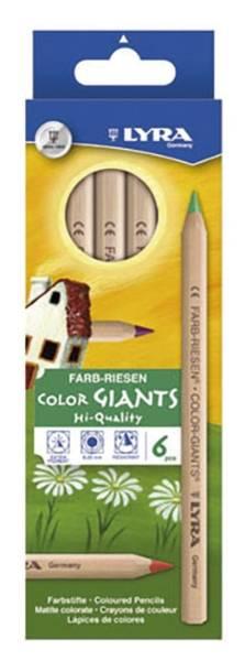 Farbstift Farbriese naturbelassen 6 Stück im Kartonetui