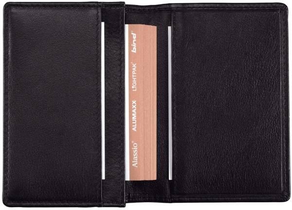 ALASSIO Visitenkartenetui 11x7 cm schwarz 42001 Nappaleder f. 30 Karten