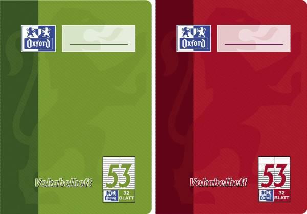 Vokabelheft LIN53 A6, 32 Blatt, liniert