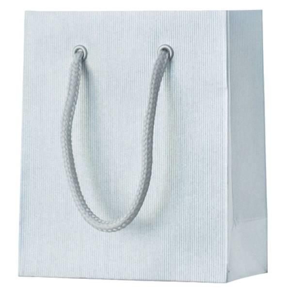 Geschenktragetasche Uni silber klein
