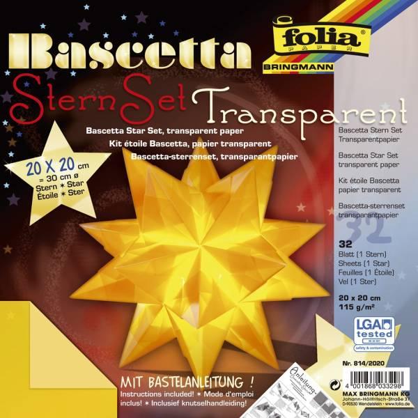 Bascetta Stern gelb, transparent, Ø 30 cm