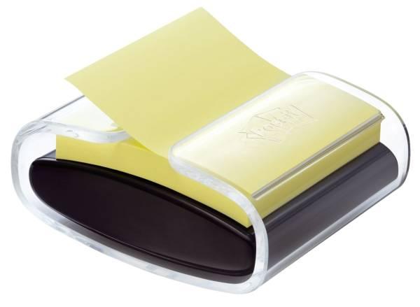 Haftnotizspender für Z Notes, gefüllt, schwarz transparent