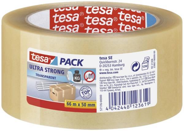 TESA Packband 50mmx66m transparent 57176 - Ultra strong