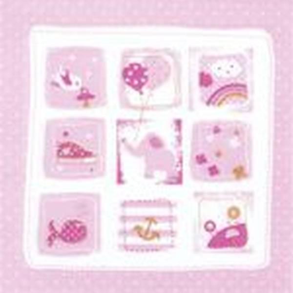 Lunchservietten Baby 33 x 33 cm, rosa