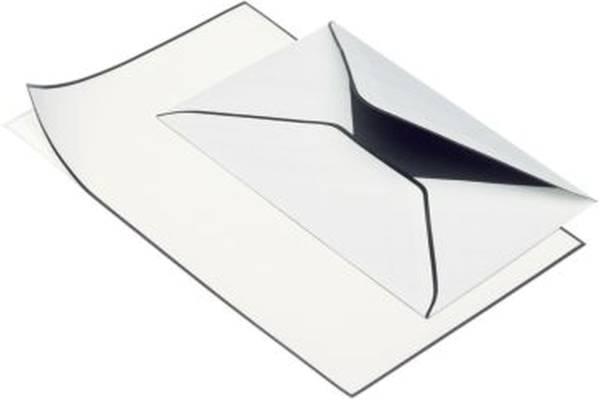 RÖSSLER Briefmappe Trauerpost A5/C6 weiß matt 22013701 5/5ST