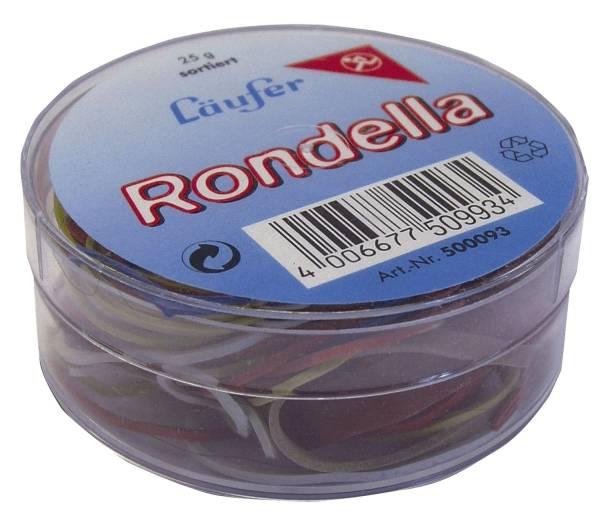 RONDELLA Gummiringe in der Dose 25 g, sortiert