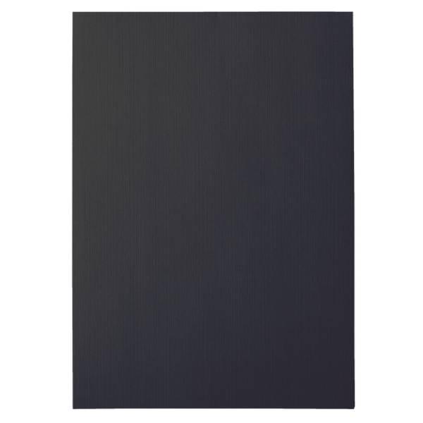 Einbanddeckel Leinen A4 schwarz