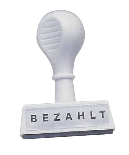 Stempel Text Bezahlt Abdruck 45 mm