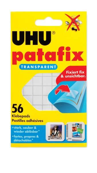 UHU Klebestücke Patafix transparent 48815 56St