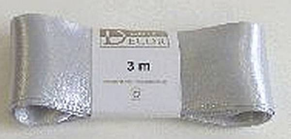 Doppelsatinband 40 mm x 3 m, silber