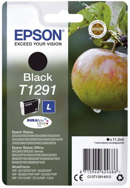 EPSON Inkjetpatrone T1291 schwarz C13T12914012 11,2ml