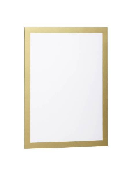 DURABLE Magnetschilderrahmen A4 gold 4872 30 Duraframe 2St