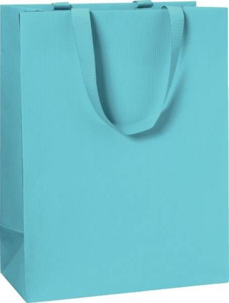 Geschenktragetasche Uni hellblau groß