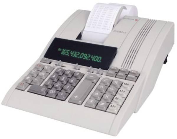 Tischrechner CPD 5212, mechanisches Druckwerk, 12 Zeichen, 220x90x290mm, lichtgrau