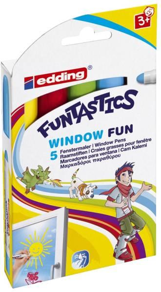 Window Marker Fun e 16 5er Set Funtastics, 2 6 mm, sortiert