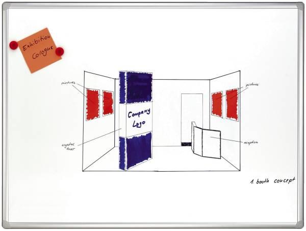 FRANKEN Schreibtafel 120x180cm weiß SC8205 PRO