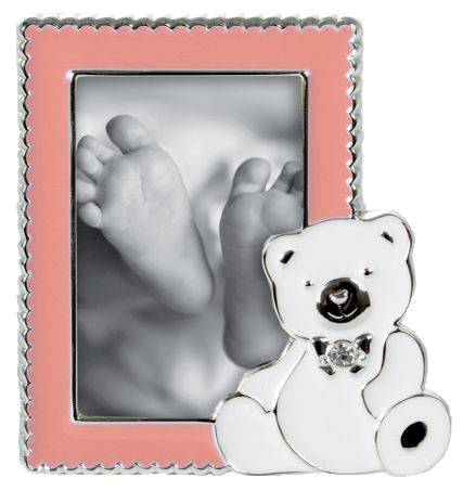 GOLDBUCH Bilderrahmen Baby Sweet Bear rosa 960310 f. 5x8cm