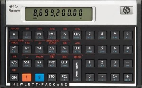 HP Finanztaschenrechner 12C Platinum 12C PLAT