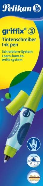 PELIKAN Tintenroller Griffix grün Faltschachtel 945042 T2 rechts