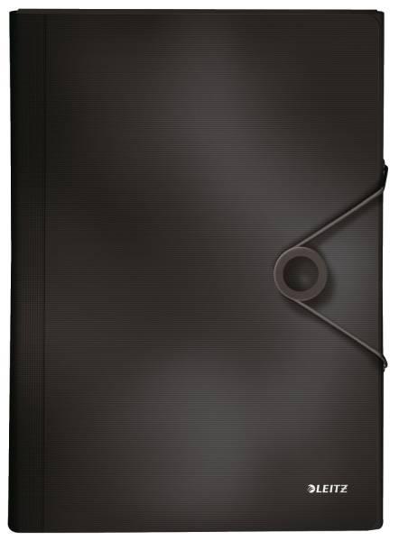 4579 Fächermappe Solid 6 Fächer, A4, 250 Blatt, PP, schwarz