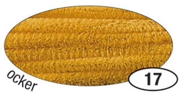 Chenilledraht 8 mm, 10 Stück, ocker